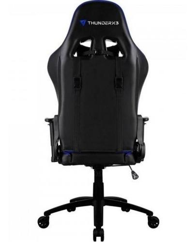 cadeira gamer profissional tgc12 preta/azul thunderx3