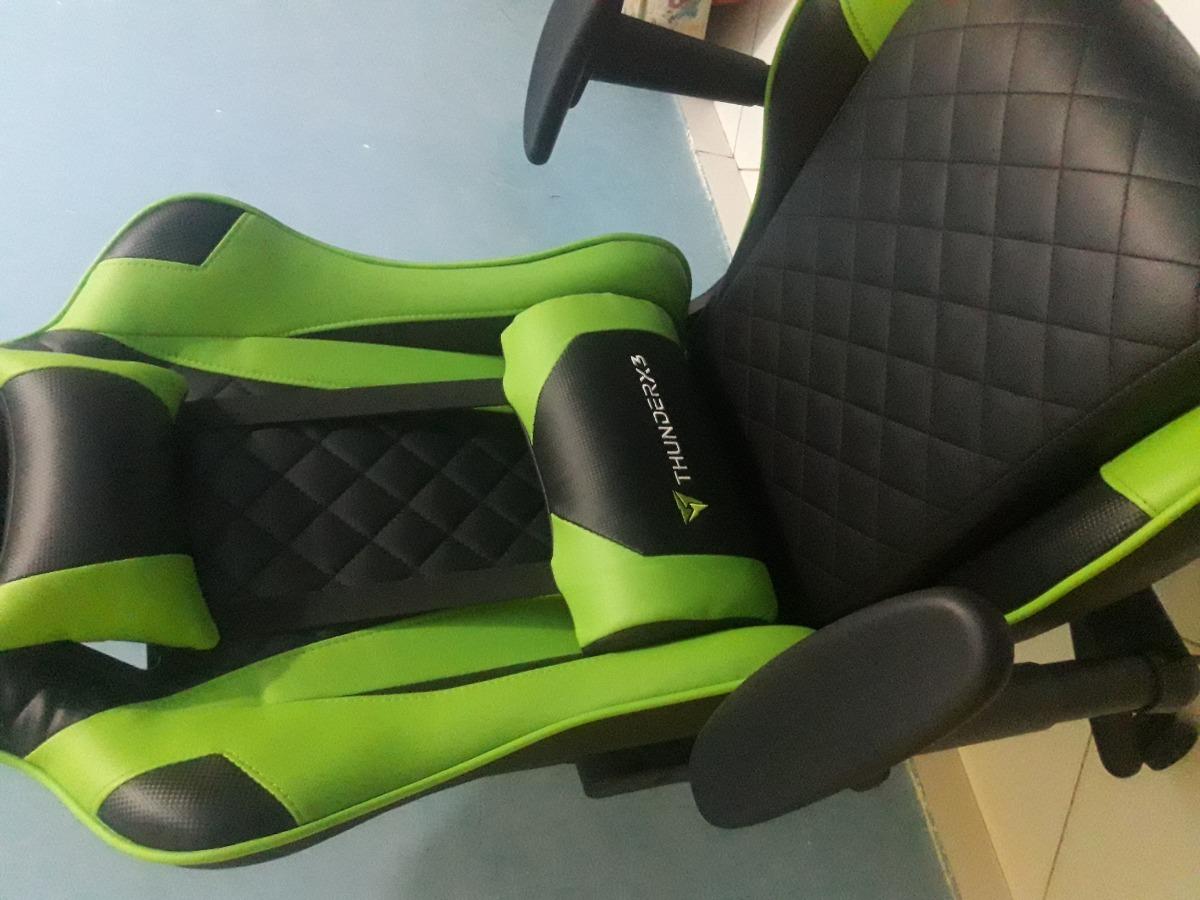 ca6a6e23f cadeira gamer thunderx3 tgc12 preta verde. Carregando zoom.
