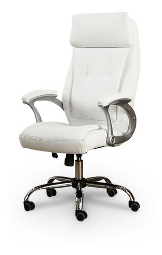 cadeira giratória branca c/descanso p/braços - by-8-627