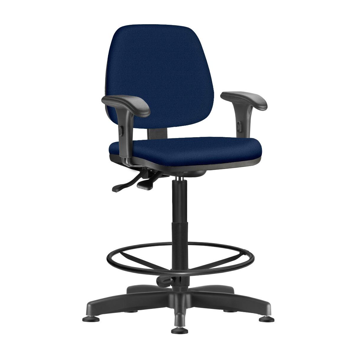 Cadeira Giratoria Job Caixa Ergonomica Com Bracos Azul R 749 99 Em Mercado Livre