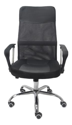 cadeira giratória presidente trevalla altura regulável preta