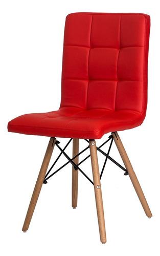 cadeira gomos base madeira eiffel eames várias cores