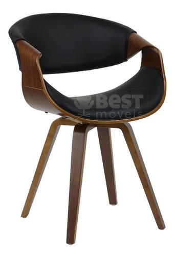 cadeira grife de luxo base madeira nicole pronta entrega