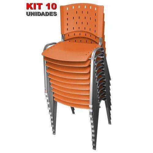 cadeira iso fixa singolare laranja