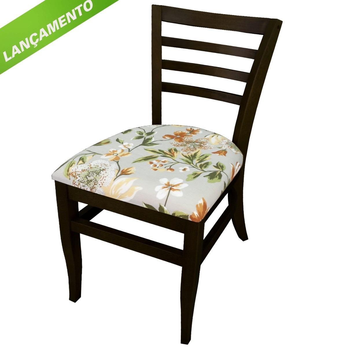 Cadeira Madeira Maciça Assento Estofado R$ 348 00 em Mercado Livre #69A526 1200x1200