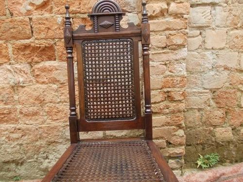 cadeira madeira nobre ebanizada nova