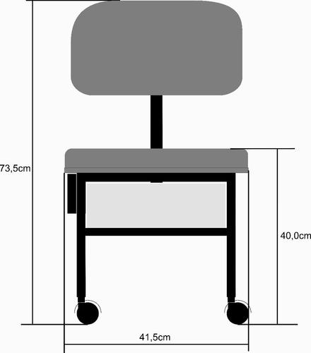 cadeira manicure+ cliente+ carrinho auxiliar + tripé oferta