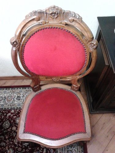 cadeira medalhão antiga