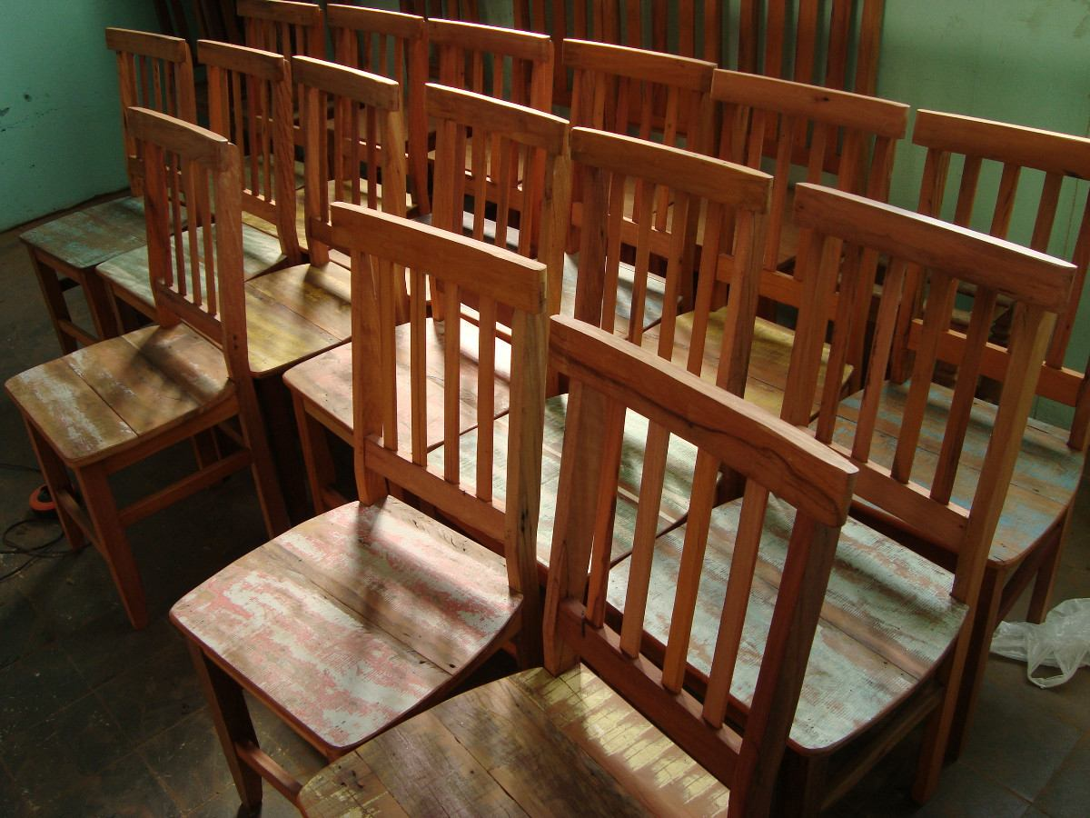 Cadeira Mineirinha Madeira De Demolição / Madeira Maciça! R$  #673316 1200x900