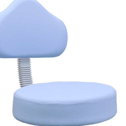 cadeira mocho podologio e estetica com apoio pes azul