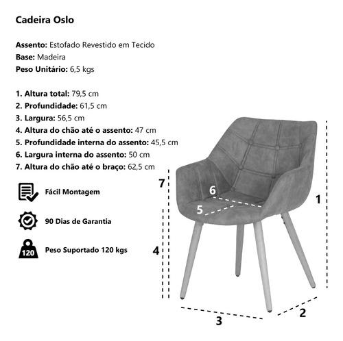 cadeira oslo base madeira caramelo