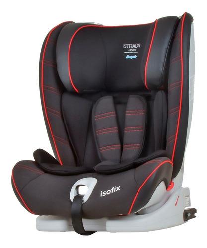 cadeira para auto strada isofix - black red line - burigotto