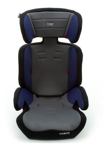 cadeira para auto - tour - 9 a 36kg - cinza e azul - cosco