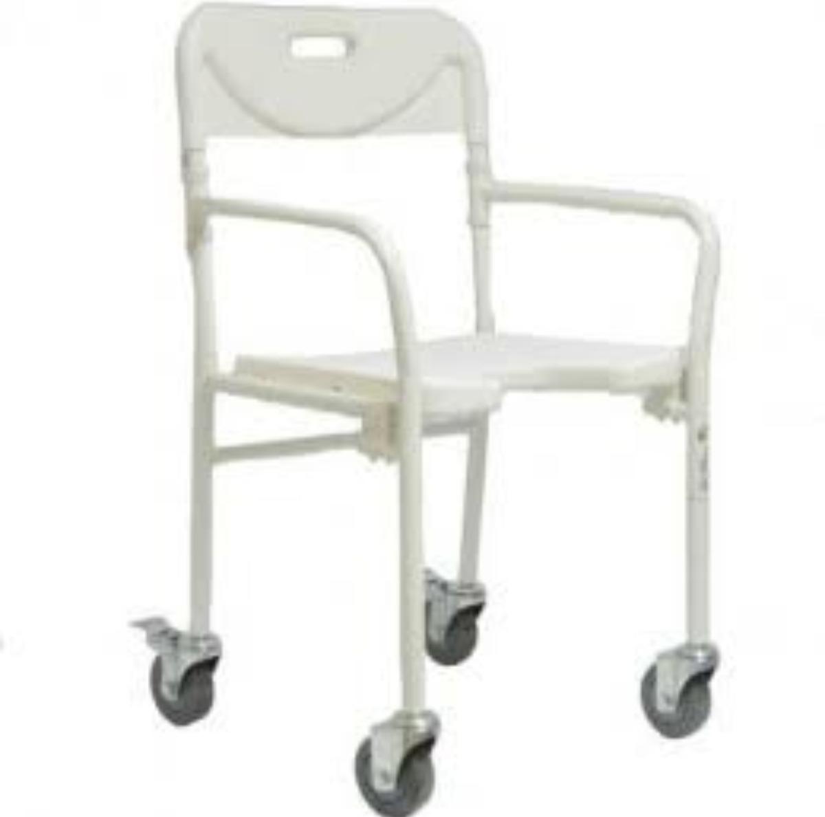 Cadeira Para Banho Para Idoso Dobravel Com Rodas E Freio R 790 00  -> Imagens De Uma Cadeira