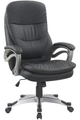 cadeira para escritório presidente estofada preta trevalla