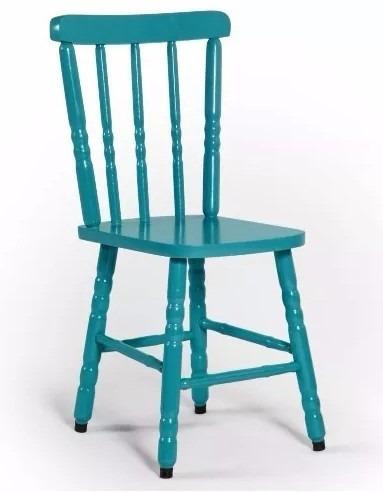 cadeira para mesa country colorida madeira maciça eucalipto