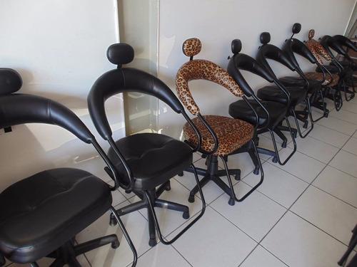 cadeira para salão preta