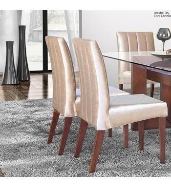 cadeira p/mesa jantar voyage linha a linho móveis rafana x