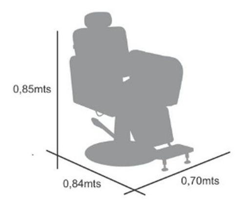 cadeira poltrona barbeiro terra santa reclinável caravaggio