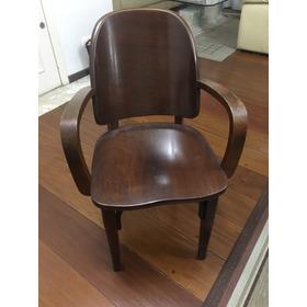Cadeira Poltrona Cimo Com Braços Antiga Vintage