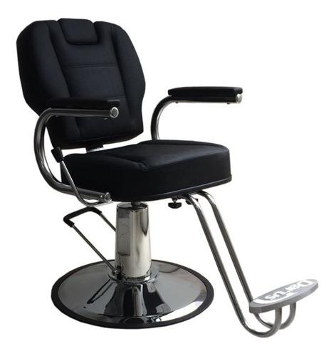 cadeira poltrona reclinável base redonda para barbeiro
