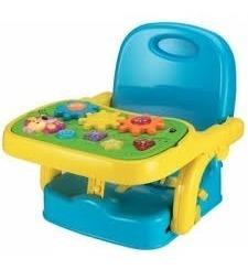 cadeira portatil e dobravel bebe com mesa musical atividades