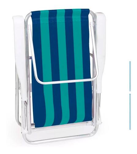 cadeira praia alumínio reclinável 8 posiçoes mor 12x s/juros