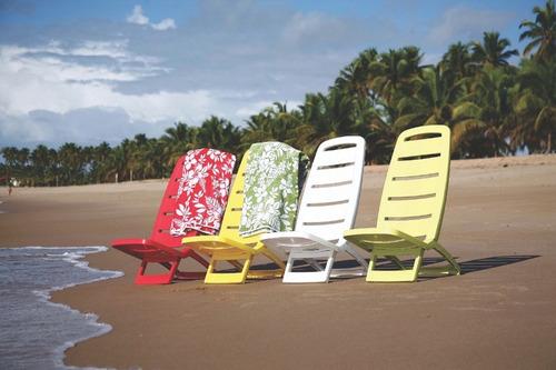 cadeira praia plástica guaruja vermelha tramontina 92051040