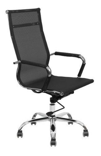 cadeira pres gira charles eames em tela preta - frete gratis