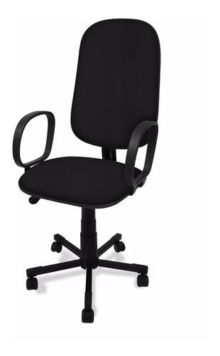 cadeira presidente giratória c/ braço corsa e lamina de aço