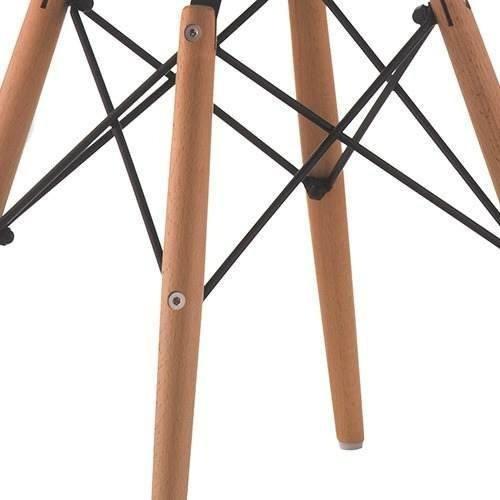 cadeira preta charles eames wood dsw base madeira garantia