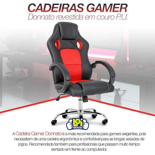 cadeira racing gamer giratória almofadada fretegrátis oferta