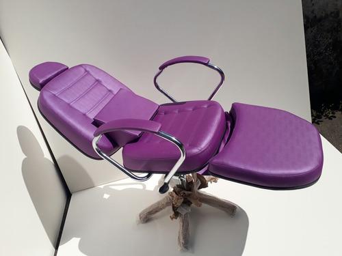 cadeira reclinável para micropigmentação e maquiagem