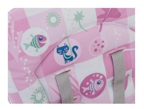 cadeira refeição burigotto bon appetit xl peixinhos rosa