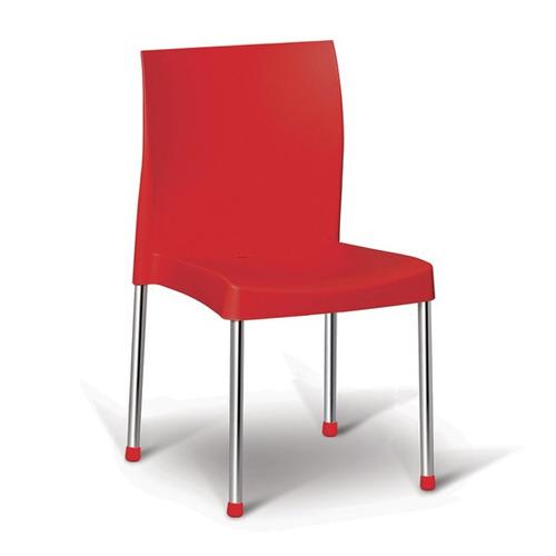 cadeira resistente varanda churrasco cozinha vermelha pracas