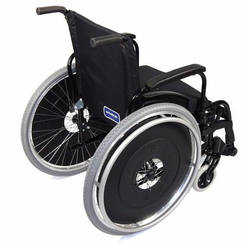 cadeira rodas ortobras avd alumínio pedal elevável 46cm maca