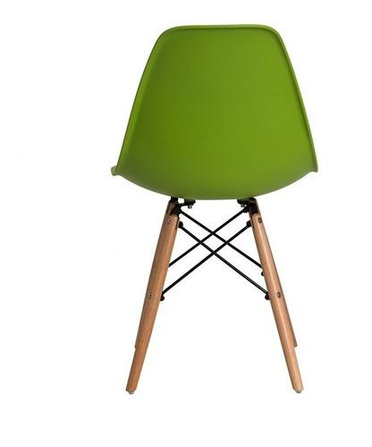 cadeira sala mesa jantar charles eiffel eames base madeira