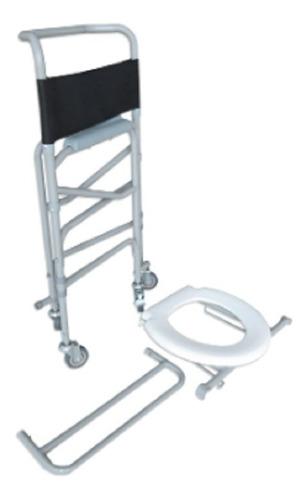 cadeira sanitária higiênica de banho em aço d40 dellamed