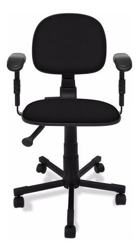 cadeira secretaria c/ back system c/ braço reg.