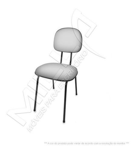 cadeira secretaria fixa pé palito injetada