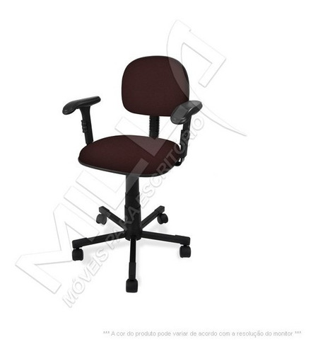 cadeira secretaria giratória com braço regulavel injetada