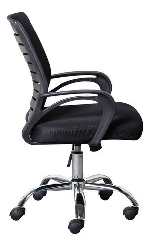 cadeira secretária trevalla tl-cde-24-1 giratória preta