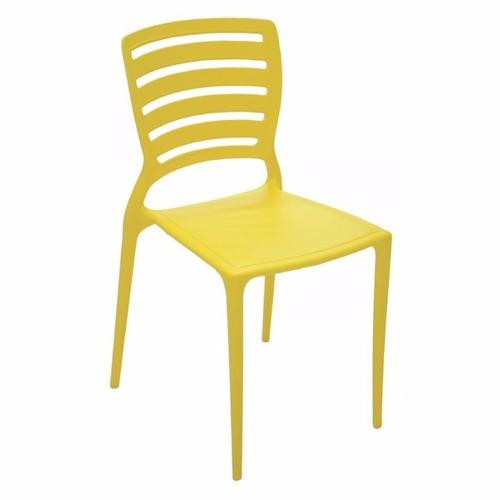 cadeira sofia encosto vazado amarela tramontina c/ 02 uni.