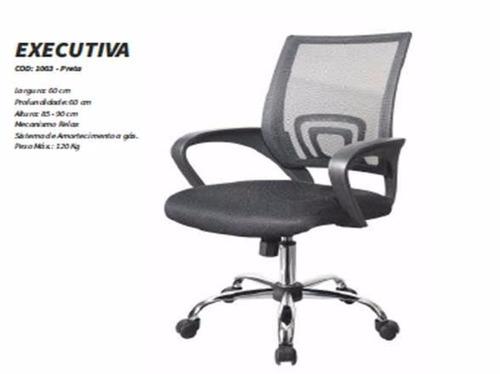 cadeira telada fixa diretor mesh