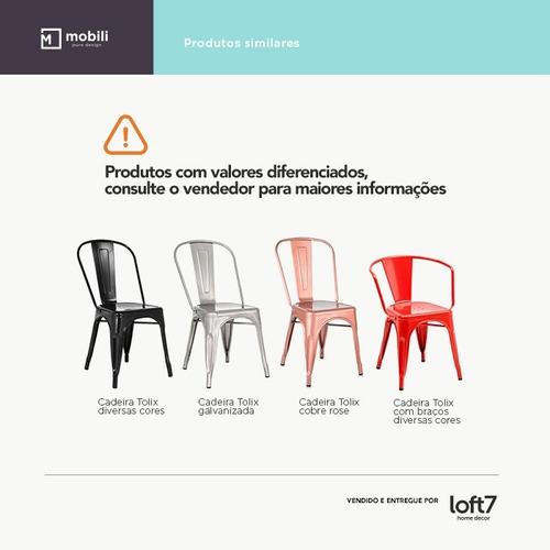 cadeira tolix - iron - assento madeira - branco