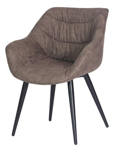 cadeira toronto cinza base ferro