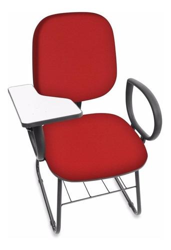 cadeira universitária diretor sky c/ porta livros