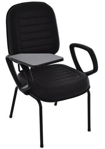 cadeira universitária estrutura fixa com braços e prancheta