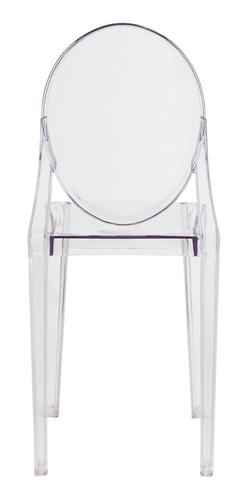 cadeira victoria ghost transparente sala cozinha jantar