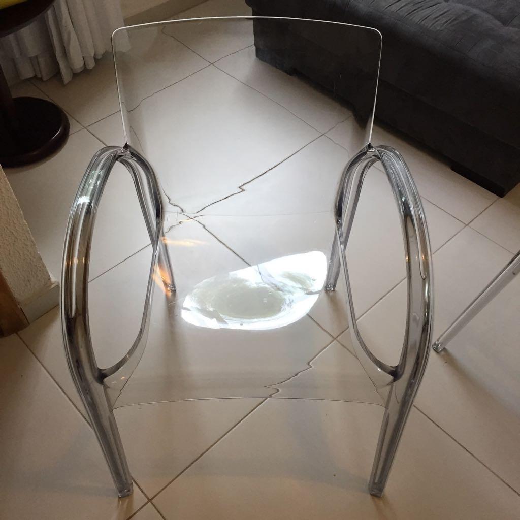 4 Cadeiras De Acr Lico Transparente Tok Stok Sala De Jantar No  -> Cadeiras Para Sala De Jantar Acrilico